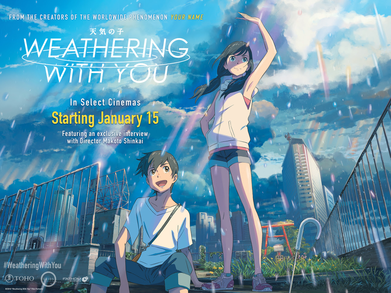 Weathering With You' Coming to Cineplex Theatres Across Canada in January  2020 – Nerds and Beyond